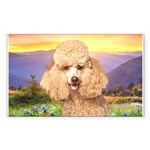 Poodle Meadow Sticker (Rectangle 10 pk)