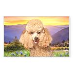 Poodle Meadow Sticker (Rectangle 50 pk)