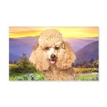 Poodle Meadow 20x12 Wall Decal