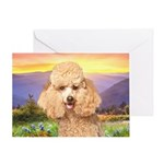 Poodle Meadow Greeting Card