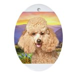 Poodle Meadow Ornament (Oval)