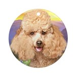 Poodle Meadow Ornament (Round)