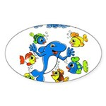 Bisous Oval Sticker