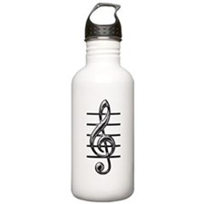 TREBLE CLEF- CLASSY CHROME copy.png Water Bottle