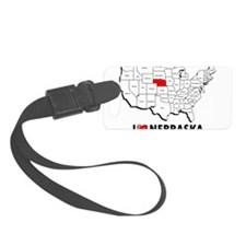 I Love Nebraska Luggage Tag