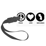 Peace Love New Jersey Large Luggage Tag