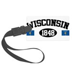 Wisconsin 1848 Large Luggage Tag