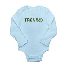 Trevino, Vintage Camo, Long Sleeve Infant Bodysuit