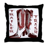Trailer Trash Throw Pillow
