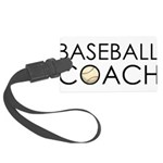 Baseball Coach Large Luggage Tag
