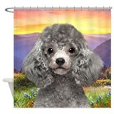 Poodle Meadow Shower Curtain