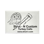 STRUT-N TURKEY CALLS Rectangle Magnet (100 pack)