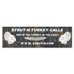 STRUT-N TURKEY CALLS Sticker (Bumper)