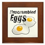 Unscrambled Eggs Framed Tile
