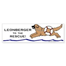 Leonberger to the Rescue Bumper Bumper Sticker