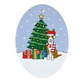 Ibizan Hound Christmas Oval Ornament