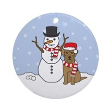 Airedale Terrier Winter Round Ornament