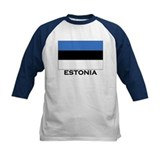 Estonia Flag Merchandise Tee
