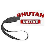 Bhutan Native Large Luggage Tag