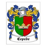 Cepede Coat of Arms Small Poster