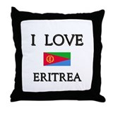 I Love Eritrea Throw Pillow