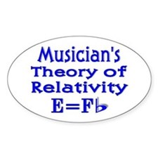 Music Theory Teacher 2 Oval Decal