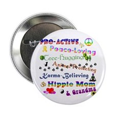 "HippieGrandma 2.25"" Button"