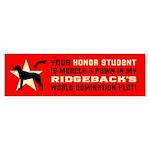 RIDGEBACK World Domintion Bumper Sticker