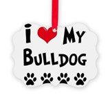 Funny English bulldog Picture Ornament