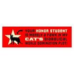 CAT World Domination Sticker -(Shorthair)