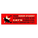 CAT World Domination! (longhair) Bumper Sticker