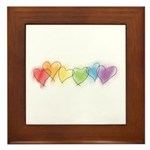 Rainbow Hearts Framed Tile