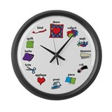 Cute Quilting Large Wall Clock