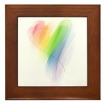 Rainbow Heart Framed Tile