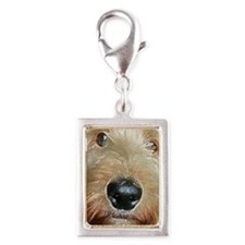 Big black squishy nose Silver Portrait Charm