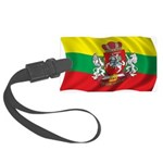 Wavy Lithuania Flag Large Luggage Tag