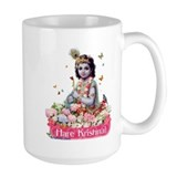Krishna in Flowers Mug, Mug