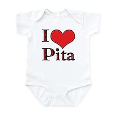 'I love Pita' Infant Creeper
