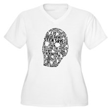 Vintage Hockey Goalie Typography Mask T-Shirt