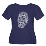 Vintage Hockey Goalie Typography Mask T