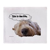 Labradoodle Throw Blankets