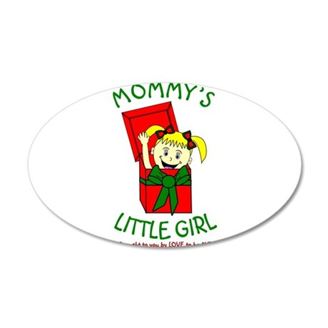MOMMY'S LITTLE GIRL 35x21 Oval Wall Decal