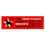 BOXER Dog World Domination! Bumper Sticker