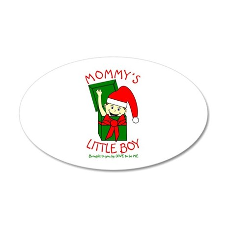 MOMMY'S LITTLE BOY 35x21 Oval Wall Decal