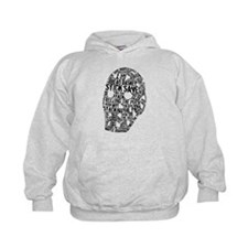 Vintage Hockey Goalie Typography Mask Hoodie