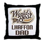 Lhaffon Dog Dad Throw Pillow