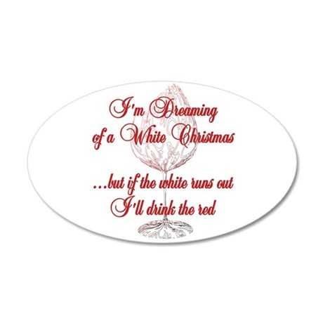 White Christmas 35x21 Oval Wall Decal