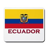 Ecuador Flag Stuff Mousepad