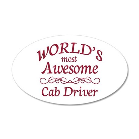 Awesome Cab Driver 20x12 Oval Wall Decal