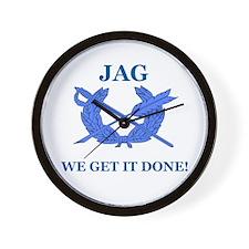 JAG WE GET IT DONE Wall Clock